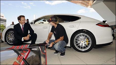 Wind Surfing Legend Robby Naish Visits Porsche Factory
