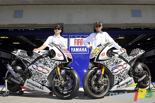 Photos New Look For Fiat Yamaha Motogp Bikes At Us Moto Grand Prix This Weekend