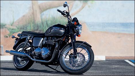 Triumph Bonneville T100 2012 Essai