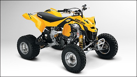 2012 Can-Am DS 450 front 3/4 view