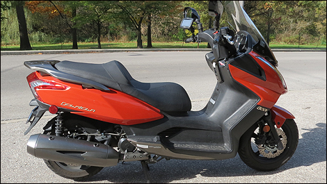 2013 Kymco Downtown 300i side view