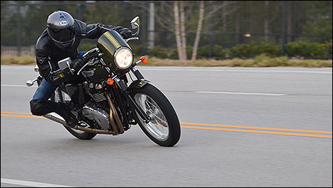 2013 Triumph Thruxton 3/4 view