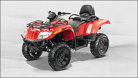 2014 Arctic Cat TRV 500 3/4 view