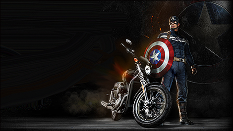 GM, Harley-Davidson star in Captain America: The Winter Soldier