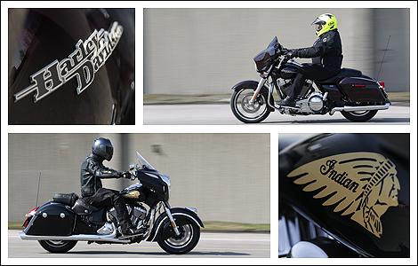 Harley Davidson Street Glide 2014 Et Indian Chieftain 2014