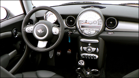the interior of the cooper is all about styling