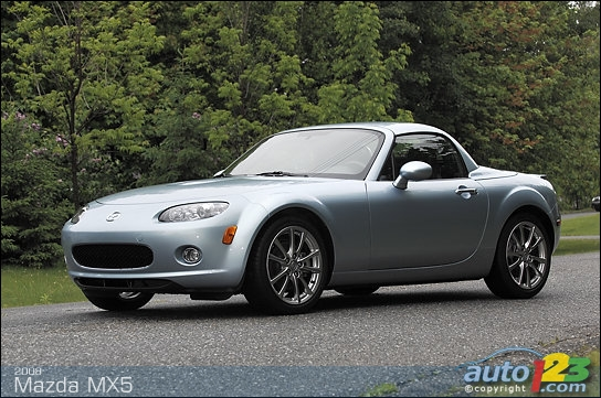 photos 2008 mazda mx 5 prht special version review video. Black Bedroom Furniture Sets. Home Design Ideas
